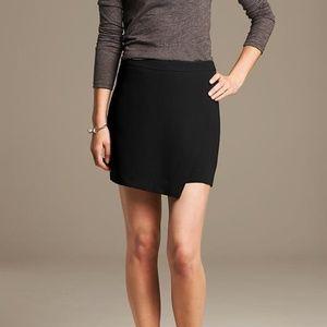 Banana Republic Crepe Foldover Skirt in Black 10